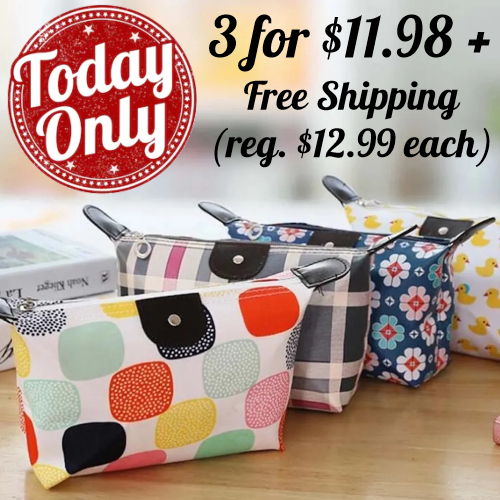 compact cosmetic bags
