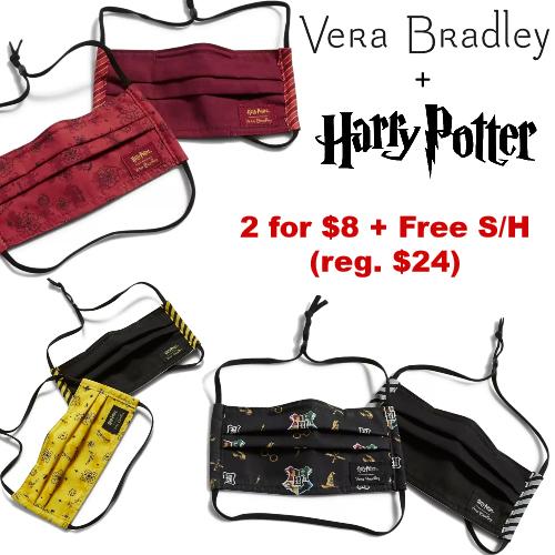 harry potter face masks by vera bradley