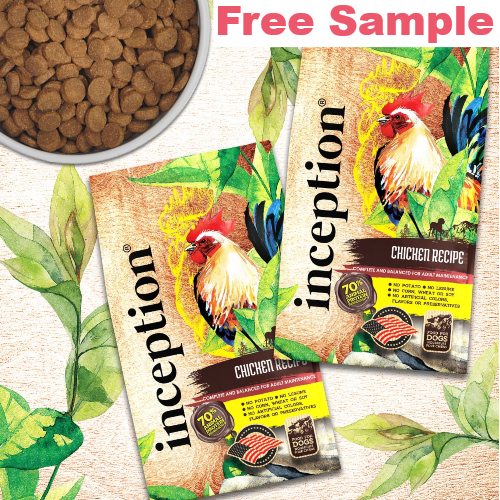 inception pet food sample