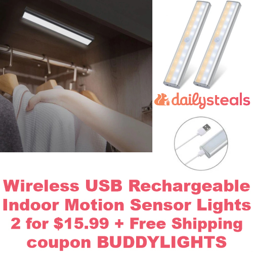 Wireless USB Rechargeable Indoor Motion Sensor Lights