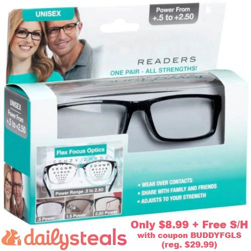 self-adjusting reading glasses