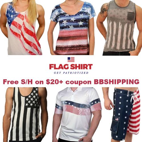 flag shirt free shipping coupon