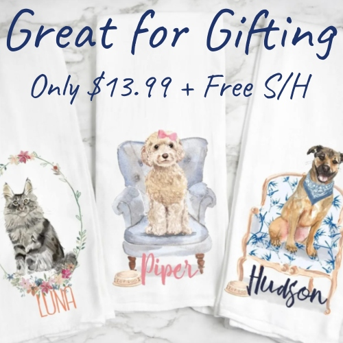 personalized pet tea towels