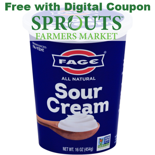 sprouts coupon free fage sour cream