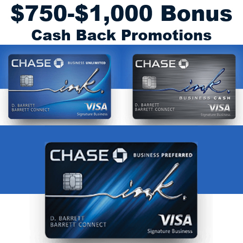 chase ink card for business cash back promos