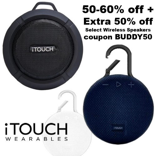 itouch wearables coupon wireless speakers