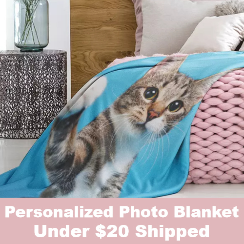 personalized photo blanket deal