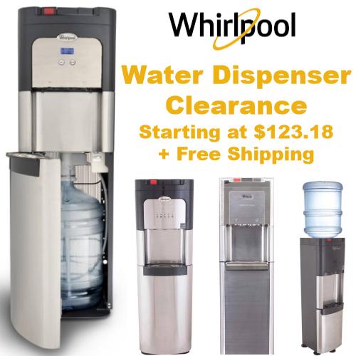 whirlpool water dispenser clearance