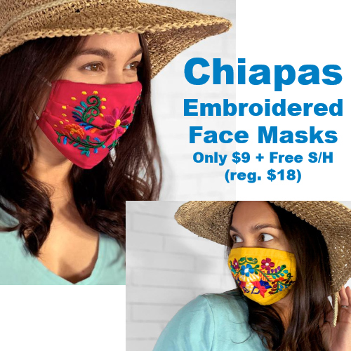 chiapas embroidered face mask