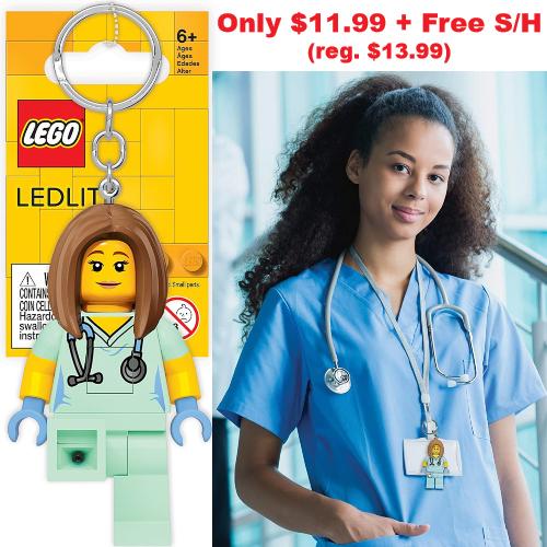lego nurse keychain