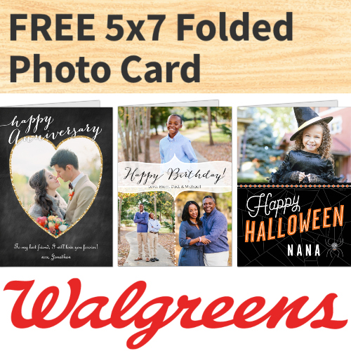 walgreens coupon 5x7 folded greeting card
