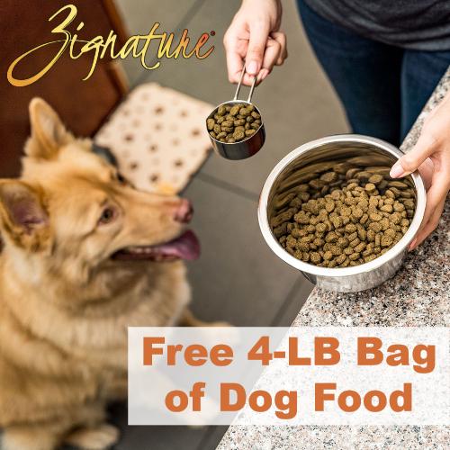 zignature free dog food coupon