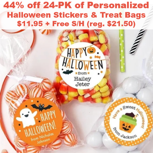 Personalized Halloween Stickers & Treat Bags