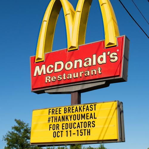 mcdonalds free breakfast